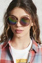 Forever 21 FOREVER 21+ Round Iridescent Sunglasses