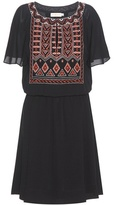Tory Burch Bristol Embroidered Crêpe Dress