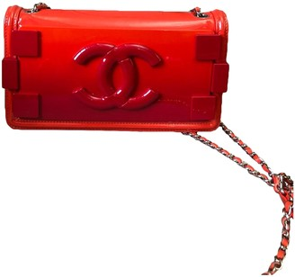 Chanel Lego Red Patent leather Handbags