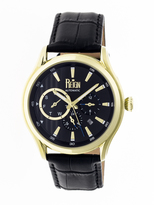 Reign Gustaf Collection REIRN1503 Men's Stainless Steel Watch with Leather Strap