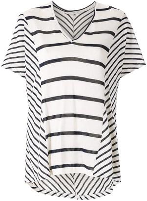 Alcaçuz striped V-neck blouse