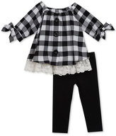 Rare Editions 2-Pc. Check Tunic and Leggings Set, Baby Girls (0-24 months)