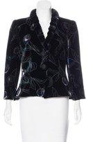Giorgio Armani Silk-Blend Velvet Jacket