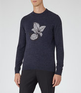 Reiss Kew Embroidered Jumper
