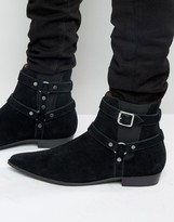 Religion Belter Suede Boots
