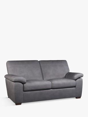 John Lewis & Partners Camden Medium 2 Seater Leather Sofa Bed, Dark Leg