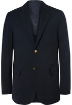 Beams Blue Slim-Fit Wool-Blend CORDURA Blazer