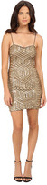 Aidan Mattox Sequin Bead Slip Dress