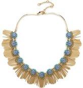 Lele Sadoughi Crystal Fringe Necklace