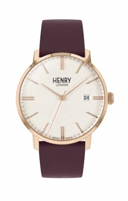 Henry London Unisex Adult Analogue Classic Quartz Watch with Leather Strap HL40-S-0396