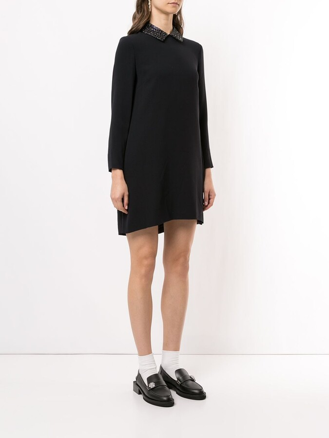 Thumbnail for your product : Christian Dior Pre-Owned Bead-Embroidered Collar Long-Sleeved Dress