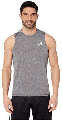adidas Freelift Tank Top (Black Heather) Men's Sleeveless