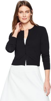 Lark & Ro Amazon Brand Women's Crewneck Cropped Cardigan Sweater