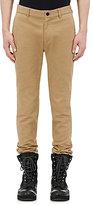 Sacai Men's Velvet-Trimmed Trousers-TAN