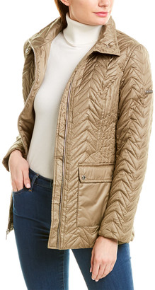 Via Spiga Cargo Zig Zag Medium Quilted Jacket