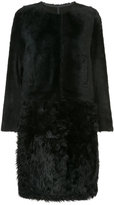 Yves Salomon oversized panelled fur coat