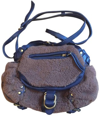 Jerome Dreyfuss Twee Mini Brown Shearling Handbags