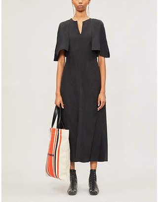 Jil Sander Split-sleeve woven midi dress