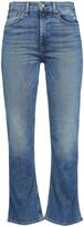 Thumbnail for your product : Rag & Bone Nina Distressed High-rise Kick-flare Jeans