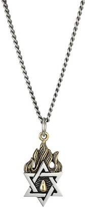 King Baby Studio New Classics Star Of David Goldtone Sterling Silver Necklace