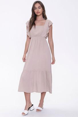 Forever 21 Ruffle-Trim Midi Dress