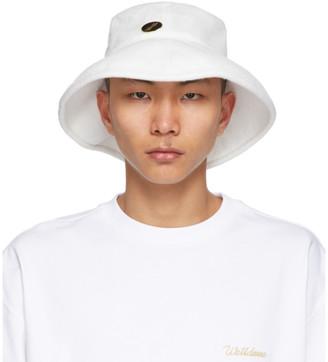 we11done White Big Brim Bucket Hat
