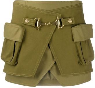 Balmain High-Waisted Cotton Skirt