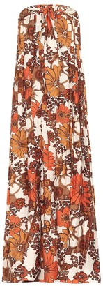 Dodo Bar Or Floral strapless maxi dress