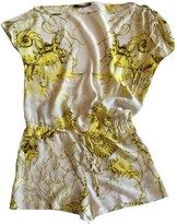 Roberto Cavalli Yellow Silk Jumpsuit for Women