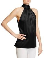 Ramy Brook Paige Tie Neck Silk Top