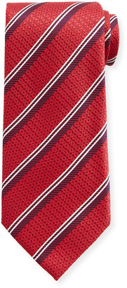 Canali Men's Diagonal Stripe Silk Tie