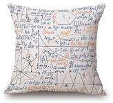 Elliot_yew Modern Decorative Throw Pillow Case Cushion Cover School Genius Smart Student Math Geometry Science Numbers Formules Image Art
