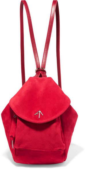 Atelier MANU Fernweh Mini Suede Backpack - Red
