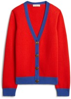Tory Burch Color-Block Cashmere Cardigan