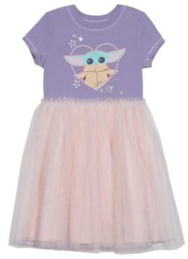 Disney Little Girls Child Heart Dress with Mesh Skirt