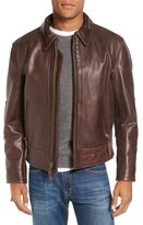 Schott NYC Men's Antique Vintage Style Leather Moto Jacket