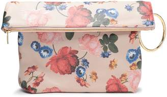Mother of Pearl Ruby Floral-print Pebbled-leather Clutch