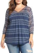 Lucky Brand Plus Size Women's Print Top