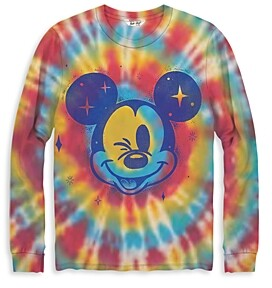 Junk Food Clothing Tie Dye Mickey Mouse Long Sleeve Tee