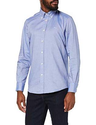 Harmont & Blaine Men's Crc012001202b Casual Shirt, (808 Light Blue 805), Small
