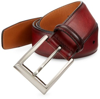 Saks Fifth Avenue COLLECTION BY MAGNANNI Burnished Rojo Leather Belt