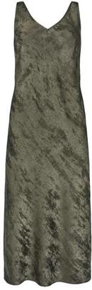 Mint Velvet Grey Shimmer Slip Midi Dress