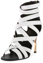 Balmain Charlotte Strappy Leather Sandal