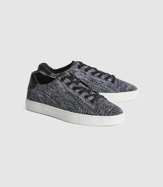 Reiss Brackley - Knitted Trainers in Black/white
