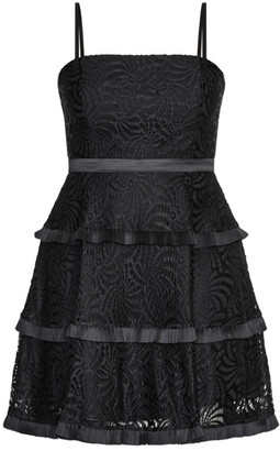 City Chic Angelic Lace Dress - black