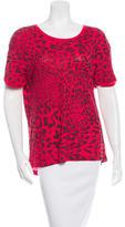 Sandro Leopard Print Short Sleeve T-Shirt