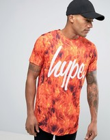 Hype Logo T-Shirt In Fire Print