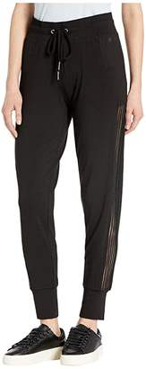 Splendid Studio Marled Joggers with Sheer Elastic Stripe