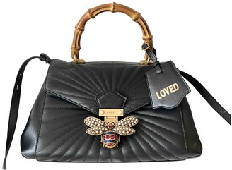 Gucci Queen Margaret Black Leather Handbags