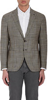 Luciano Barbera MEN'S CHECKED SILK-WOOL TWO-BUTTON SPORTCOAT